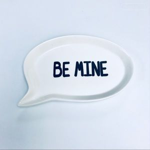 Be Mine Talk Bubble Trinket Dish Tray